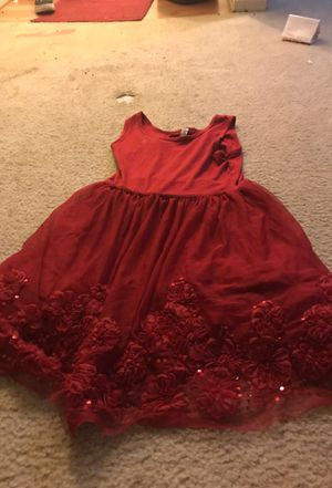 Hot red sparkling flower dress for Sale in Reston, VA