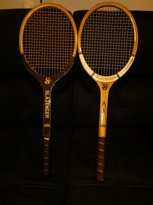 2 Vintage Slazenger Wooden Tennis Rackets for Sale in South Portland, ME