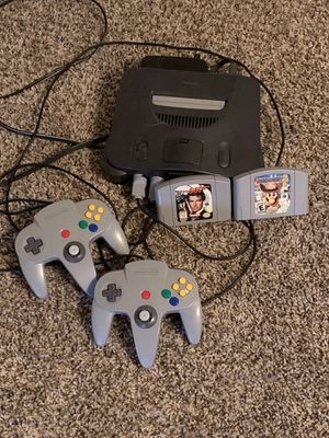 Nintendo 64 plus 2 controllers and games for Sale in San Antonio, TX