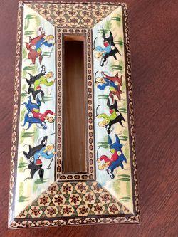 Vintage Persian Khatam Napkin Holder for Sale in Rockville,  MD