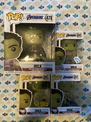 Hulk Funko Pops Endgame Set for Sale in Glassboro, NJ