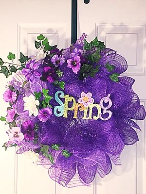 Deco Mesh Spring/Summer Wreath for Sale in Gerrardstown, WV