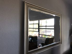 Silver Wall Mirror PENDING PICK UP for Sale in Spring Valley, CA