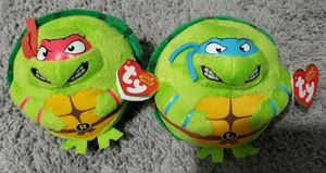 Ty Beanie Baby Ninja Turtles Leonardo And Raphael New for Sale in Rosedale, MD
