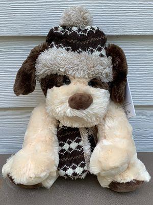 "Hugfun International Beige Teddy Bear Plush Scarf Bonnet Stuffed Animal 12"" for Sale in Dallas, GA"