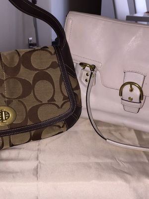 TWO AUTHENTIC COACH PURSRS GREAT CONDITION BOTH FOR $100 for Sale in Parma, OH