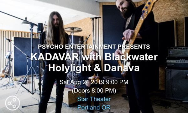 BLACKWATER HOLYLIGHT TICKETS FOR SALE