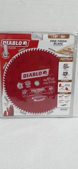 DIABLO 12 in. x 80-Teeth Finishing Saw Blade brand new nuevo for Sale in San Bernardino, CA