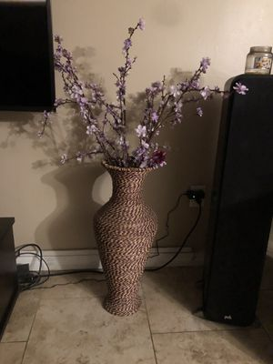 Vase with purple accent flowers for Sale in Hudson, FL