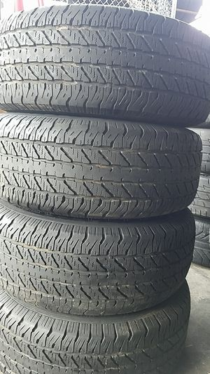 p265-70r16 set of 4 used tires for Sale in San Diego, CA