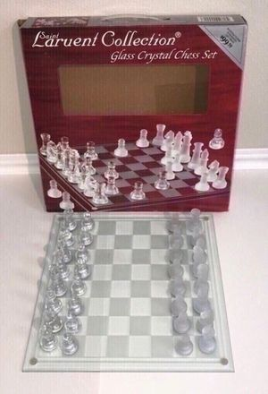 New Glass Chess Game just $20 for Sale in Port St. Lucie, FL