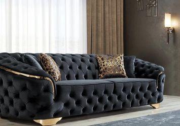 Lupino Black Velvet Sofa & Loveseat ❗$39 Down Payment 100 Days Same As Cash for Sale in Austin,  TX