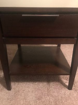 Side table dark cherry wood color for Sale in Commack, NY