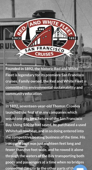 San Francisco Red and White Fleet Cruise tickets for Sale in Sunnyvale, CA