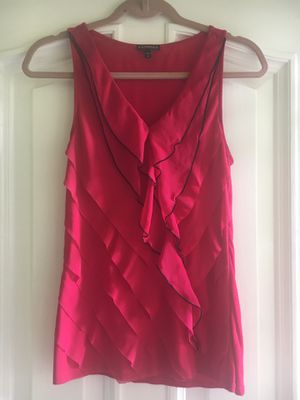 Ladies Size Small Hot Pink Ruffly Sleeveless Blouse for Sale in Puyallup, WA