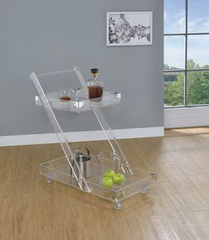 New stock Acrylic Ghost Bar Cart for Sale in GILLEM ENCLAVE, GA