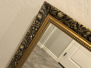 Beautiful wall hanging mirror with gold frame for Sale in Chandler, AZ