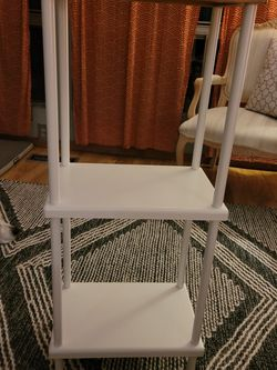 White METAL and WOOD shelves for Sale in Lynnwood,  WA