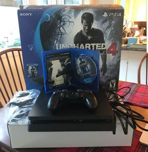 Ps4 in original box with 1 game, controller, and all cords. Refund policy for Sale in Charlottesville, VA