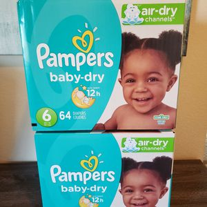 2 Boxes Of Pampers Diapers Size 6 for Sale in San Diego, CA