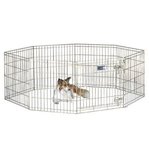 MidWest Wire Dog Exercise Pen with Step-Thru Door, Gold Zinc, 24-in for Sale in Irvine, CA