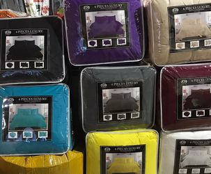 6Pc Pintuck Comforter Sizes King & Queen Available - 8 Different Colors for Sale in Richardson,  TX