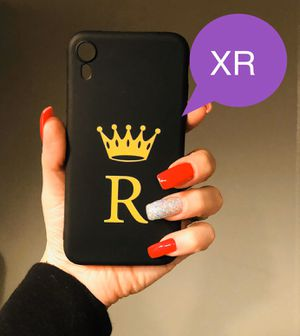 Brand new cool iphone XR case cover rubber initial R letter name crown mens guys hypebeast hype swag girls women cute pretty for Sale in San Bernardino, CA