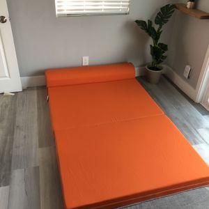 Orange Convertible Futon Seat for Sale in San Diego, CA
