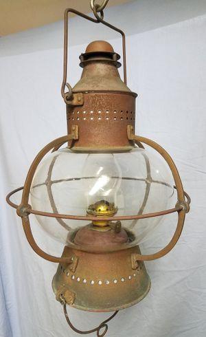 Antique hanging ship's onion lantern for Sale in Pompano Beach, FL