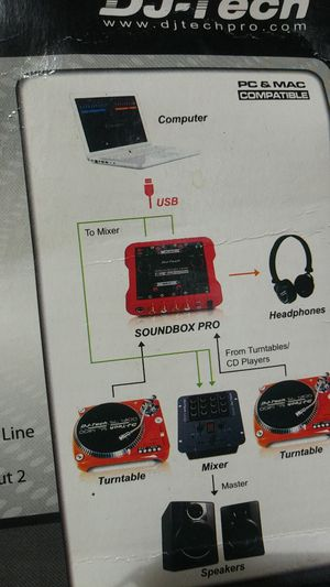 Its a soundbox pro includes a Audio Driver CD -ROM. 4 pcs 1m RCA Cable (2 x Red+2 x blue) for Sale in Philadelphia, PA