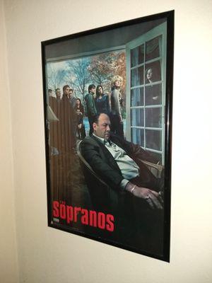 Sopranos poster and frame for Sale in Norfolk, VA