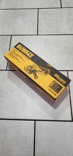 DEWALT 20 VT MAX GRINDER NEW NUEVO TOOL ONLY NO BATTERIE for Sale in Long Beach, CA