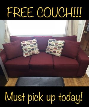 Wine colored couch. FREE!! for Sale in Los Angeles, CA