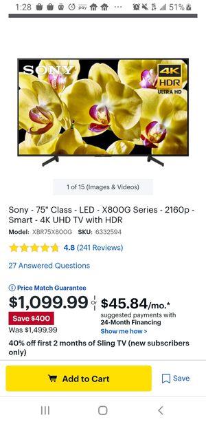 Sony 4k tv for Sale in North Miami Beach, FL