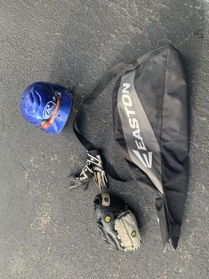 Baseball glove, bat gloves, and Helmet with bag for Sale in Schaumburg, IL