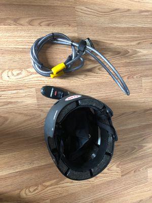 Bike lock, helmet, and tire pressure gauge for Sale in Portland, OR
