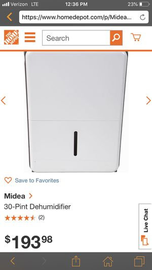 70 pint Dehumidifier by whirlpool for Only $89.99 at The House Depot 🤩compared to $193 this is a great deal ⭐️ for Sale in Pasadena, CA