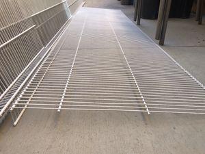 Garage closet storage shelves Rubbermaid tight mesh wire shelf for Sale in Lake Elsinore, CA