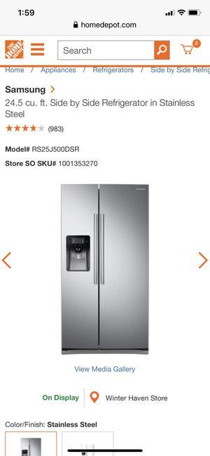 Side by side refrigerator for Sale in Winter Haven, FL