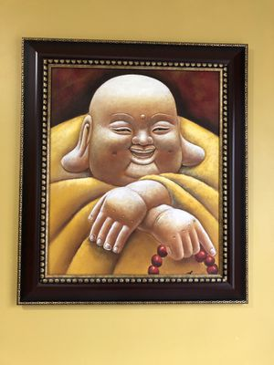 Beautiful brown frame with Laughing Buddha!! for Sale in Woodbridge, VA