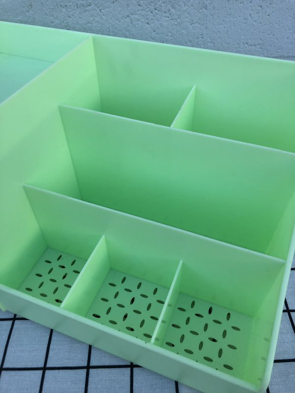 New Cute Desktop Organizer With two Drawers Plastic Storage Box Containers Organizer For Room Decor Makeup Toy