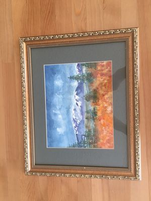 "Painting in frame with glass 16-1/4"" x 13-1/4"" for Sale in Del Mar, CA"