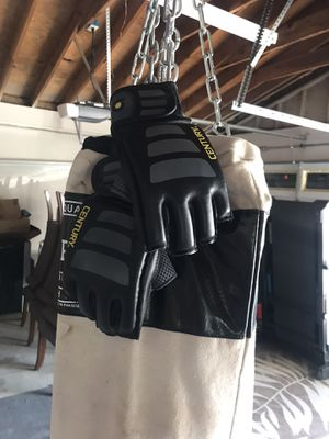 Hanging Punching bag with gloves for Sale in Upland, CA