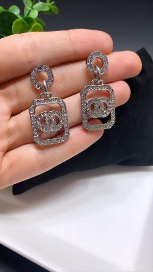 Acrylic Earrings For Women Statement Vintage Geometric Dangle Drop Earrings, Silver Color for Sale in Tustin, CA