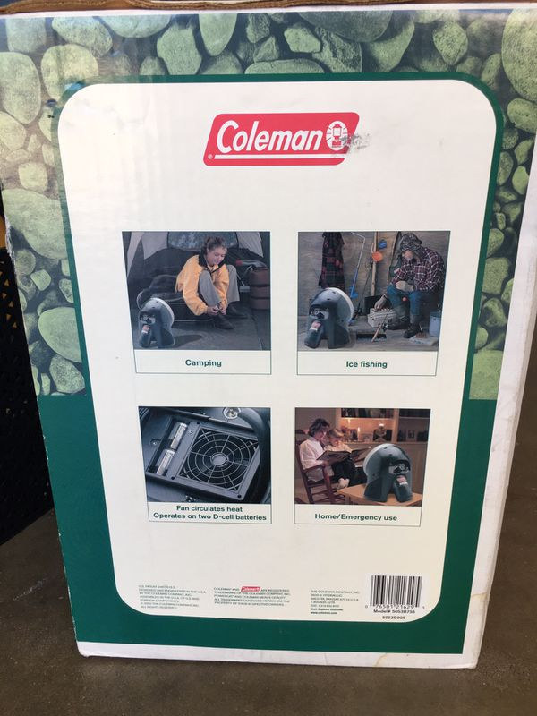 Coleman camping space heater. Propane.