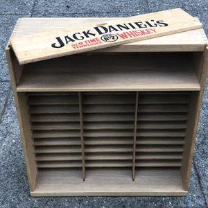 Jack Daniels wall mount storage case cassette 8 track CD for Sale in Seattle, WA