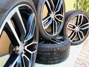 "*** L@@K *** !! RARE AUDI / VW OEM 21"" S-Line, RS Sport WHEELS/ RIMS + TIRES !! - 5x112 Nice Gloss Black & Machined Silver finish! UPDATE YOUR RIDE! for Sale in Miami, FL"