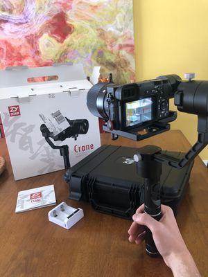 Zhiyun 3 Axis Crane Camera Gimbal for Sale in Haverhill, MA