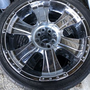 "18"" Chrome Rims - Universal 4 & 8 Lug for Sale in Gilroy, CA"