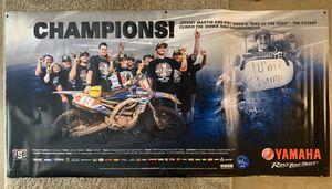 Yamaha Dirt bike Motorcycle Vinyl Poster (Jeremy Martin) for Sale in Cedar Park, TX
